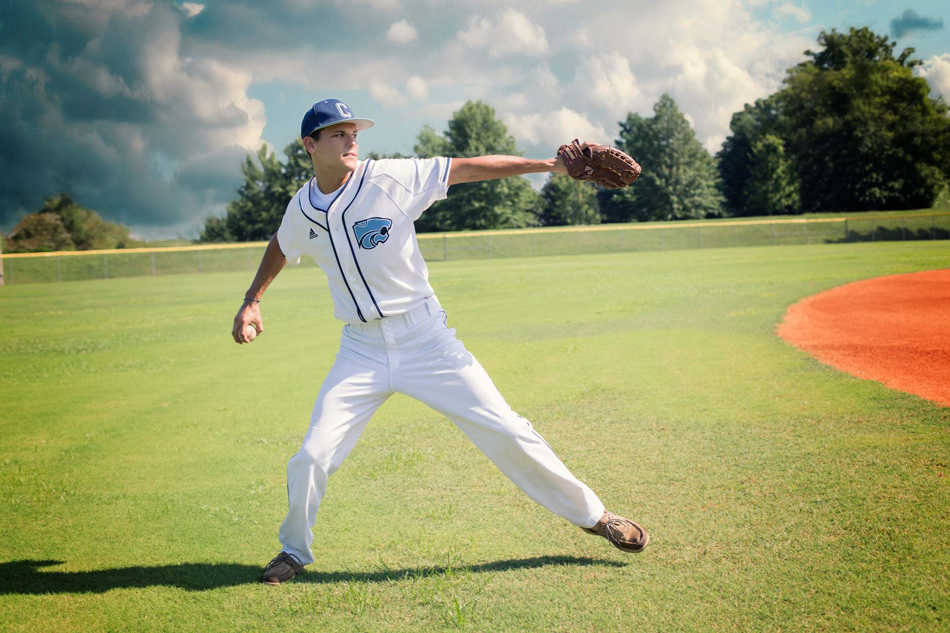 Senior Photos for Centennial HS Baseball Player