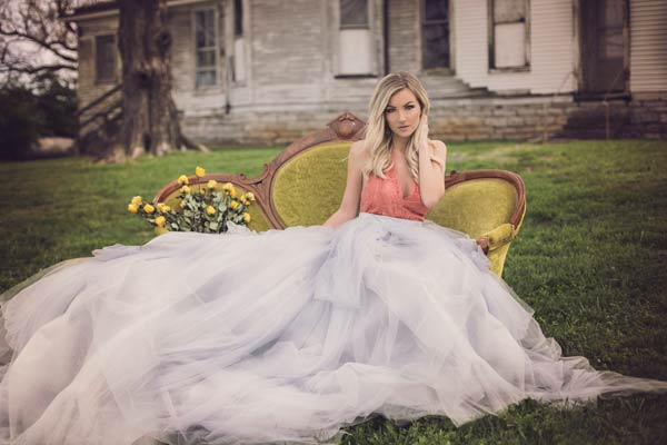 Vintage Shoot with our Custom Tulle Skirt